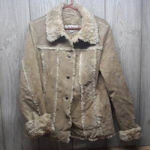 WILSONS LEATHER MAXIMA Tan Suede Jacket